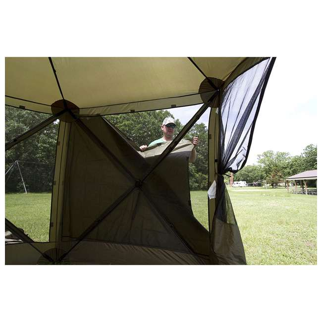 CLAM-ES-9281 + CLAM-WP-2PK-9896 Clam Quick Set Canopy Shelter + Wind & Sun Panels (2 pack) 10