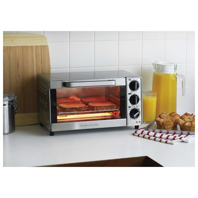 45300 + 31401 Hamilton Beach Coffee Maker and Toaster Oven, Stainless Steel 5