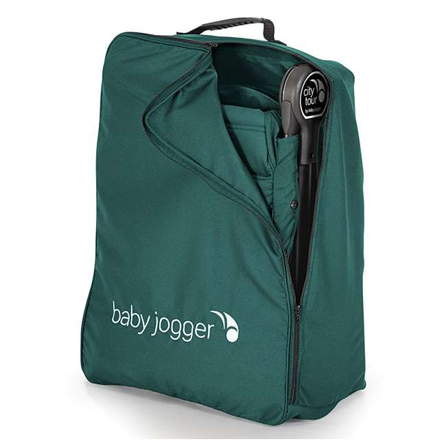 1980173 Baby Jogger City Tour Lightweight Compact Travel Stroller with Carry Bag, Green 7