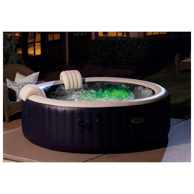 28431E Intex PureSpa Plus 6 Person Portable Inflatable Hot Tub Bubble Jet Spa, Navy 8
