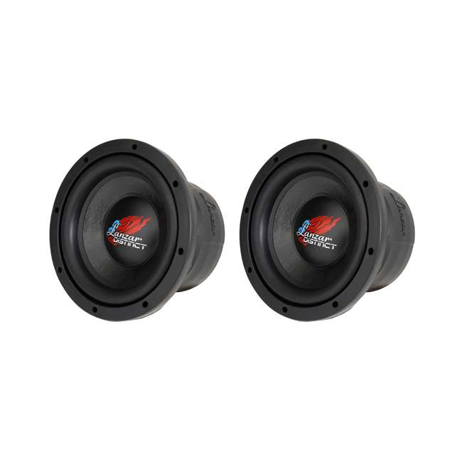 DCTS84 Lanzar Distinct High-Power 800W 8-Inch Subwoofer (2 Pack)