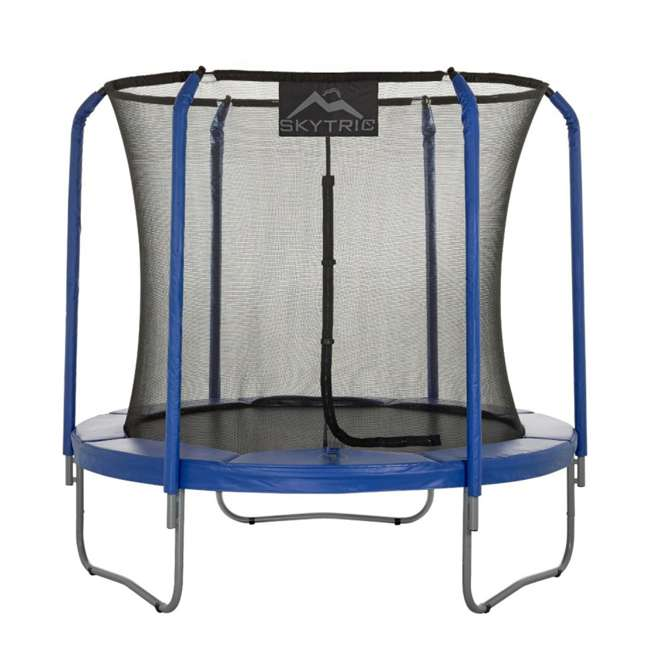 UBSF02-8-U-B Upper Bounce Skytric 8 Ft Easy Assemble Trampoline with Top Ring Enclosure(Used) 1