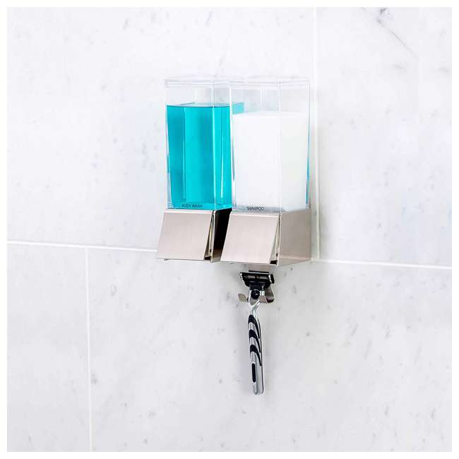 82269 Better Living Linea Luxury Wall Mounted Dual Shower/Bath Liquid Soap Dispenser 5