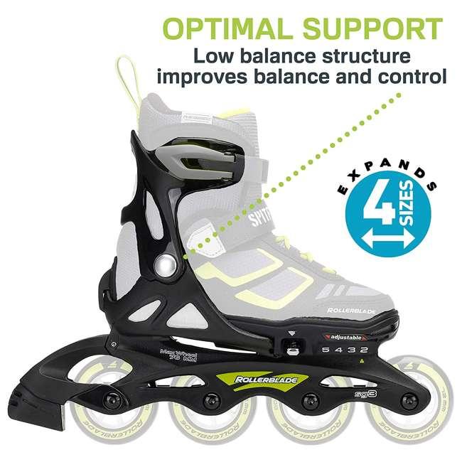17849100N41-2-5 Rollerblade Spitfire XT Girls Adjustable Kids Inline Skates, Black and Pink 5