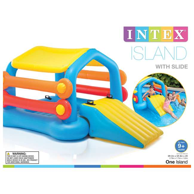 58294EP Intex Inflatable Island Hut Pool Float with Slide 5