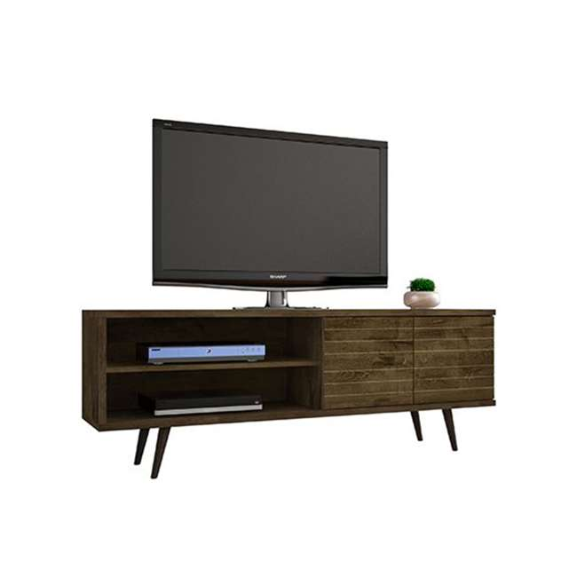 201AMC9 Manhattan Comfort Liberty 62.99 Inch Mid Century Modern Wood TV Stand with Legs 1