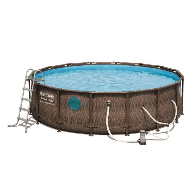 56726E-BW + 6 x 58012E-BW Bestway Power Steel 16x4 Ft Pool Set with Accessories 1