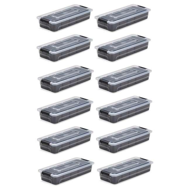 12 x FBA32231 Ezy Storage Sort It 2.5 Quart BPA Free Plastic Stacking Bin w/ 6 Cups (12 Pack)