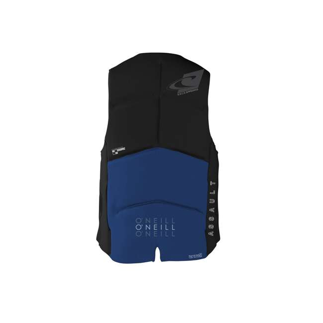 4498-B56-M O'Neill Assault 37 to 39 Inch Medium Water Ski Wakeboard Life Jacket Vest, Blue 1