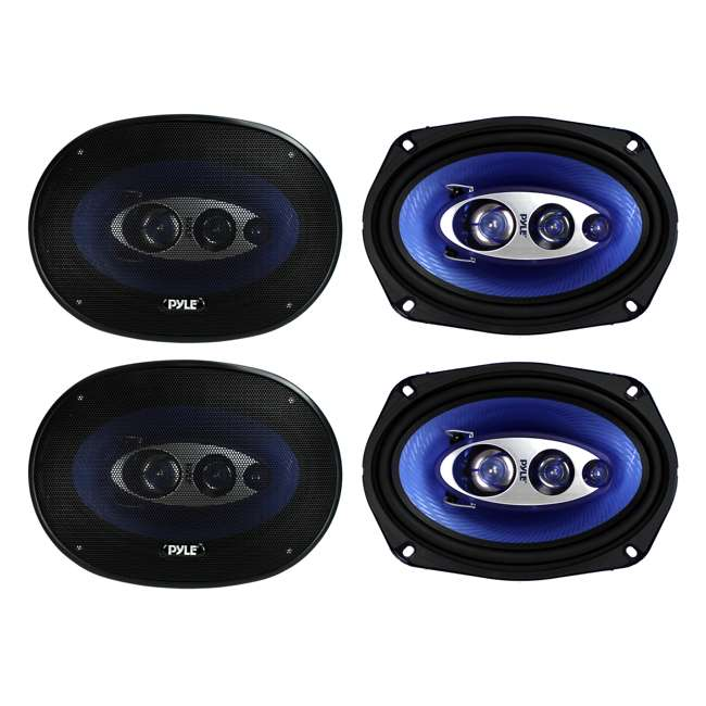 PL6984BL Pyle PL6984BL 6x9-Inch 800W 4-Way Coaxial Speakers (2 Pairs)