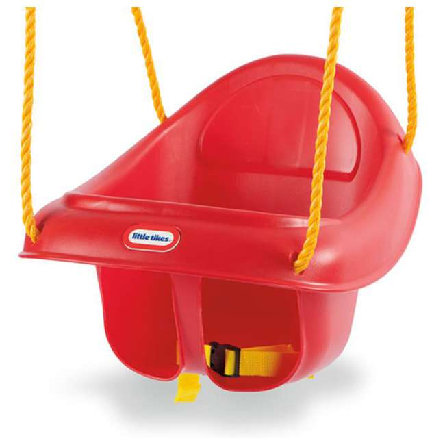 637247C Little Tikes 637247 Highback Plastic Toddler Playset Swing with Seat Belt, Red 2