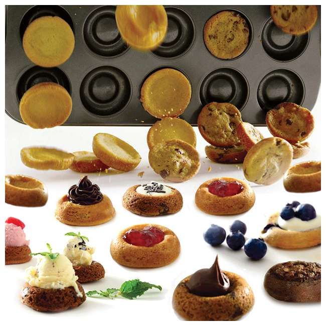 3958 Norpro 3958 Nonstick Filled Center Well Easy Clean Cookie Sheet Pan, 20 Count 2
