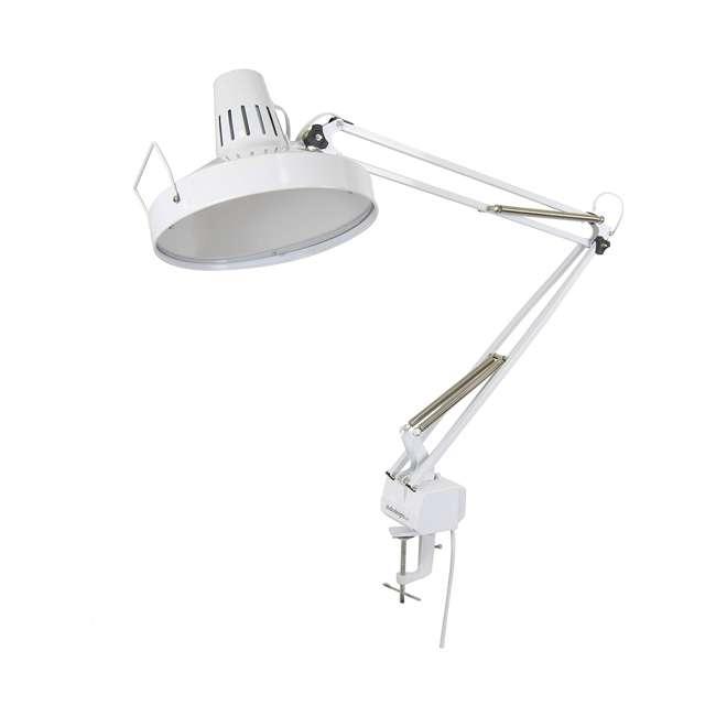 12044 Studio Design 12044 Metal Combo Dual Light LED Studio Drawing Artist Lamp, White