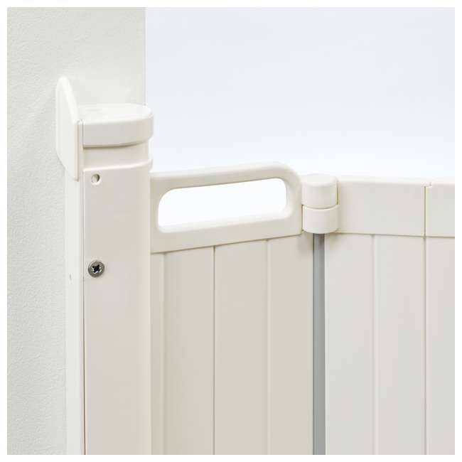 BBD-60214-2401 BabyDan Guard Me 25.4-35 Inch Wide Doorway Auto Foldable Safety Baby Gate, White 3