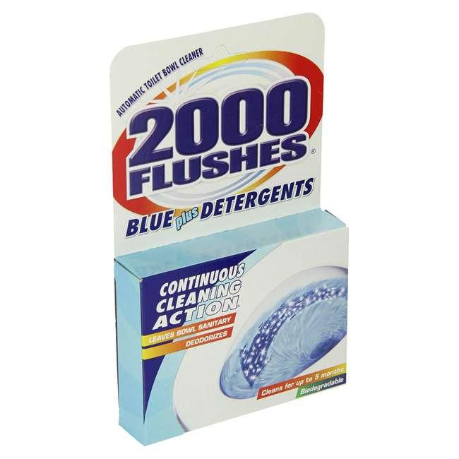 WD-201020 2000 Flushes 201020 Blue Plus Bleach Automatic Bathroom Toilet Bowl Cleaner