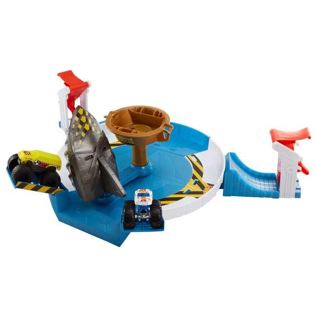 FYK14 Hot Wheels FYK14 Monster Trucks Mecha Shark Face Off Car Play Set with 2 Trucks 1