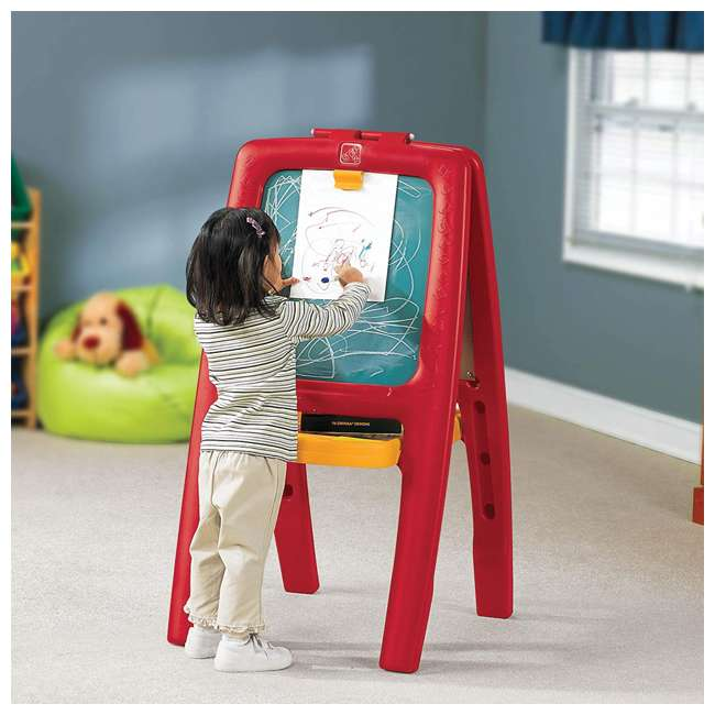 885200 Step2 Magnetic White Board and Chalkboard Art Painting Easel 1