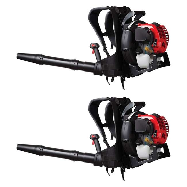 TB-41BR4BEG766 Troy-Bilt TB4BP 32cc Gas Powered Backpack Leaf Blower (2 Pack)