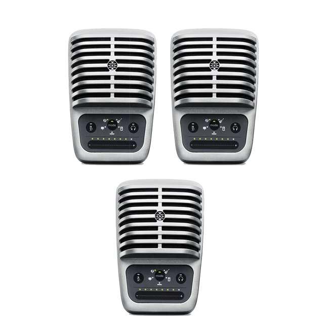 3 x SHURE-MV51-A Shure MV51 Large-Diaphragm Condenser Microphone w/ Stand (3 Pack)