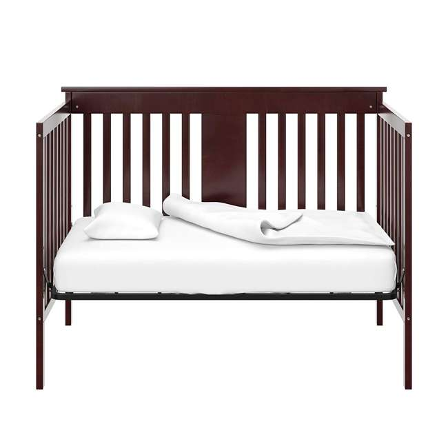 04510-359 + EM711-GJL1 Storkcraft Mission Ridge Bed, Espresso & Sealy Soybean Mattress 3