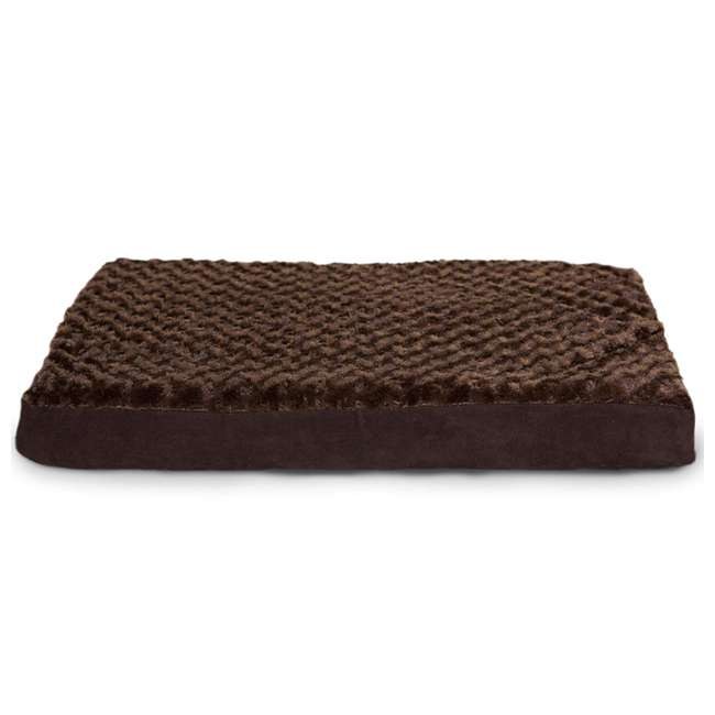 34408012-M-U-A Furhaven Plush Top Deluxe Mattress Pet Dog Bed, Chocolate, Large (Open Box)