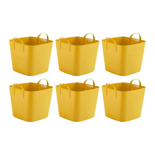 6 x Tub 25L Life Story 6.6-Gallon Storage Tote with Handles (6 Pack)