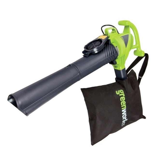 24022 Greenworks 12 Amp Corded Blower/ Vacuum 1