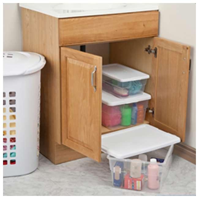 12 x 16448012 + 24 x 16428012 Sterilite 16 & 6 Quart Storage Container Tubs (12 & 24 Pack) 5