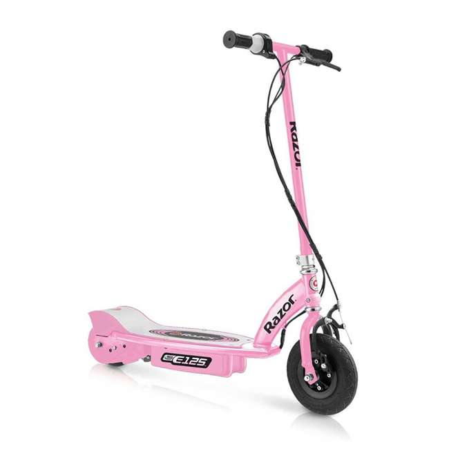 13111163 + 97783 + 96783 Razor E125 Electric Rechargeable Scooter + Bicycle Helmet + Elbow & Knee Pad Set 1
