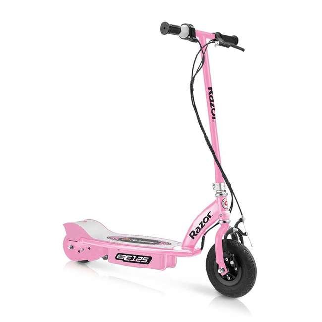 13111163 + 97880 + 96783 Razor E125 Electric Rechargeable Scooter + Bicycle Helmet + Elbow & Knee Pad Set 1