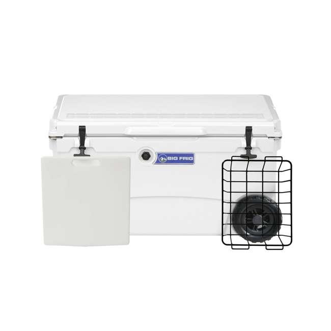 BFDB70WS-WH Big Frig Denali 70 Quart Insulated Plastic Cooler, White 1