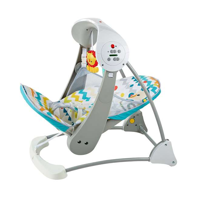 DPV46 Fisher Price Colorful Carnival Take-Along Infant Swing and Seat (2 Pack) 4