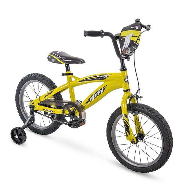 71828 Huffy Moto X 16 Inch Age 4-6 Kids Bike Bicycle with Training Wheels, Yellow