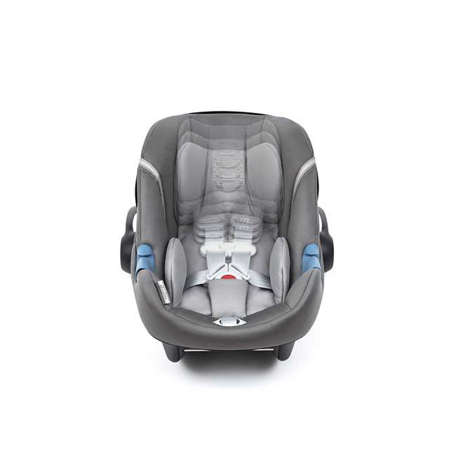 518002865 Cybex Aton M Infant Baby Car Seat & SafeLock Base w/ SensorSafe, Manhattan Gray 4