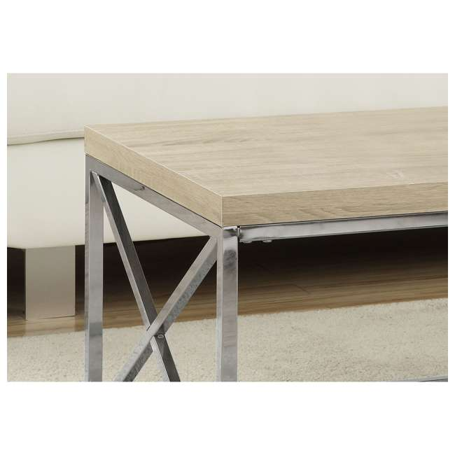 VM-3208 Monarch Natural Wood-Look Contemporary Coffee Table 1