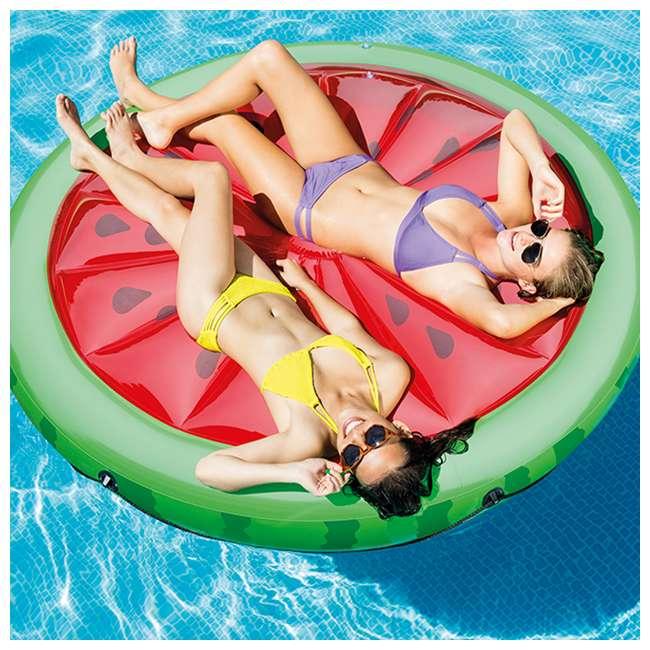 56283EP + 66639E Intex  72-Inch Watermelon Island Raft | Intex 120V Quick Fill AC Air Pump 2