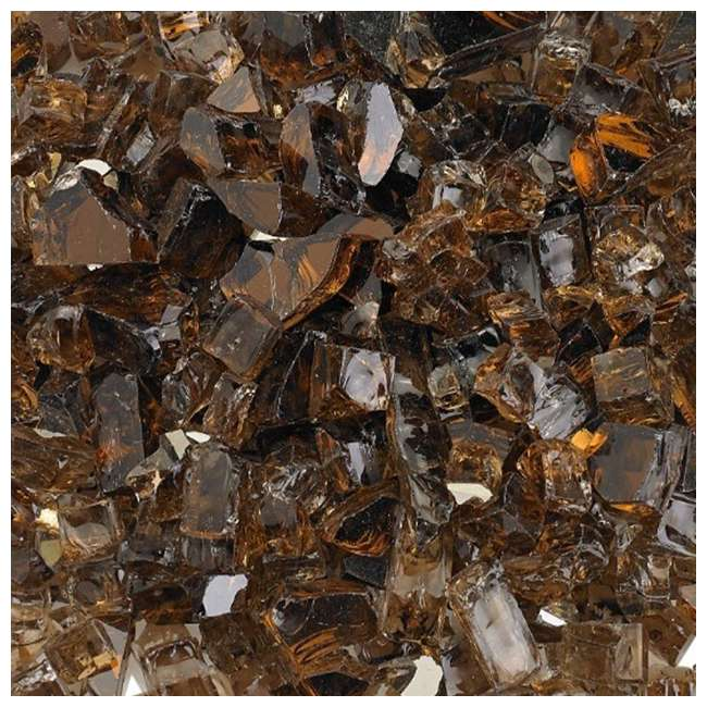 AFF-COPRF12-10 American Fireglass 10 LB Bag 1/2 Inch Reflective Fireplace & Pit Glass, Copper 2