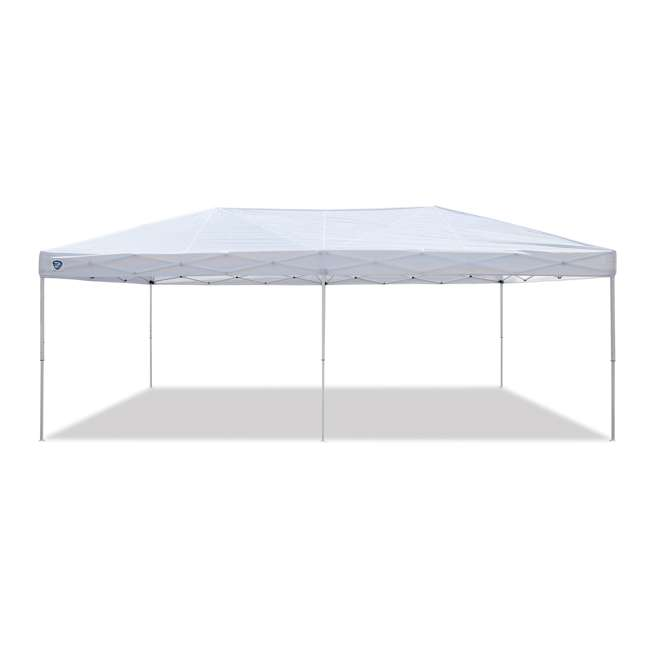 ZS2010EVRWH-U-A Z-Shade 20x10 Ft Instant Canopy Outdoor Patio Shelter, White (Open Box) (2 Pack)