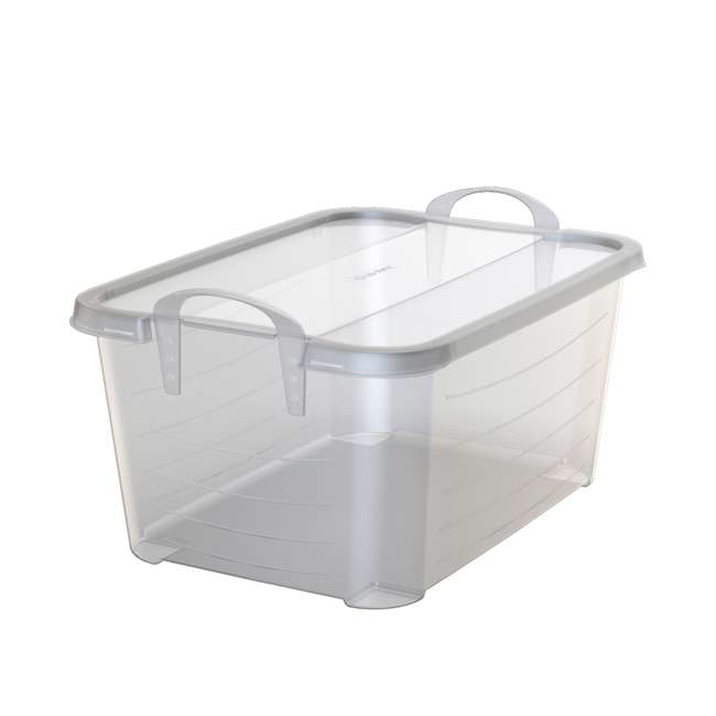 6 x CS-50-U-A Life Story Clear Stackable Closet & Storage Box 55 Quart Containers, (6 Pack) 2
