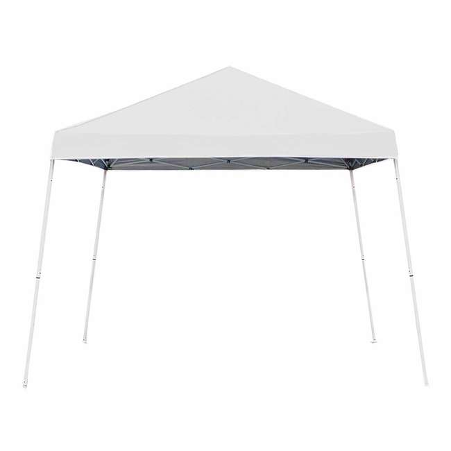 ZSB10INSTWH-PB-U-A Z-Shade 10' x 10' Angled Leg Instant Shade Canopy Tent Shelter, White (Open Box)