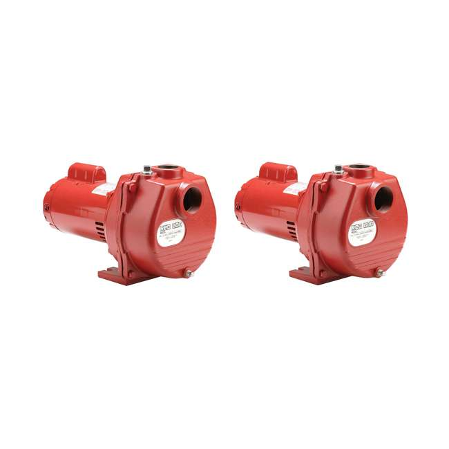 RL-SP200-U-C Red Lion 2 HP 80 GPM Cast Iron Irrigation Sprinkler Pump (2 Pack) (For Parts)