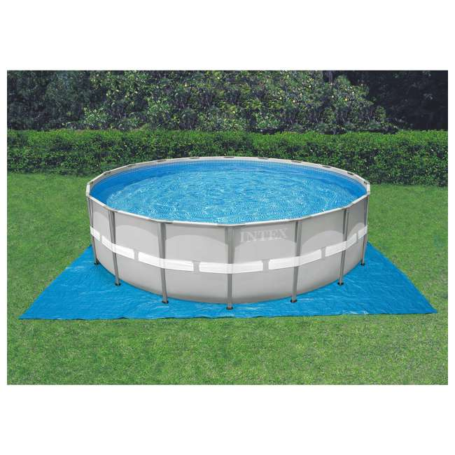 28337EH + QLC-42005 Intex Ultra Frame Swimming Pool Set + Qualco Pool Chemical Maintenance Kit 4
