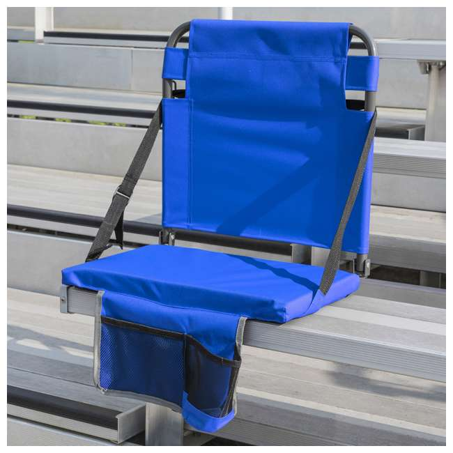 1-1-58814-DS EastPoint Sports Adjustable Bleacher Backrest Seat, Royal Blue 2