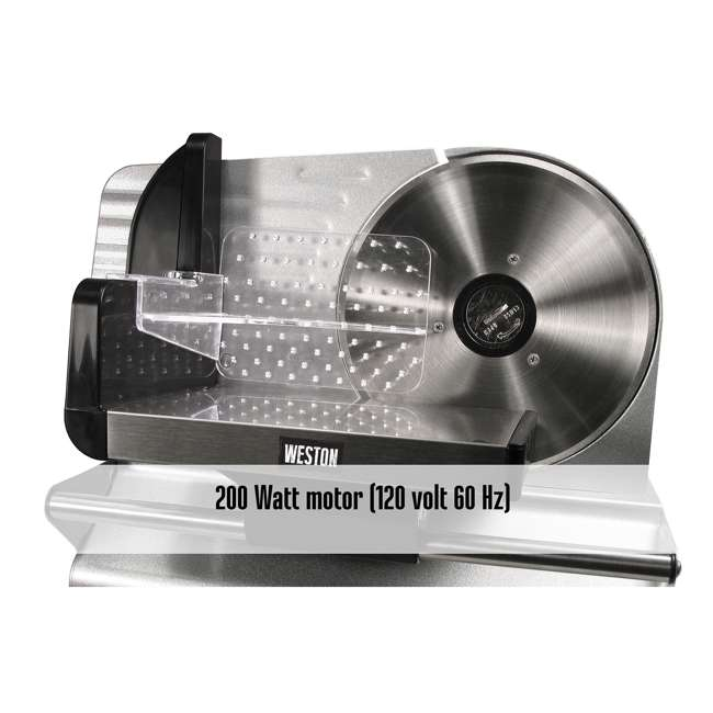 83-0750-W Weston 200 Watt 7.5 Inch ETL Certified Meat Slicer 3