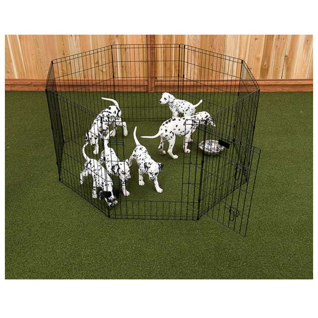 ZW 11648-U-B Lucky Dog 6 Ft Pet Exercise Play Pen for Indoor or Outdoor Use (Used) (2 Pack) 1