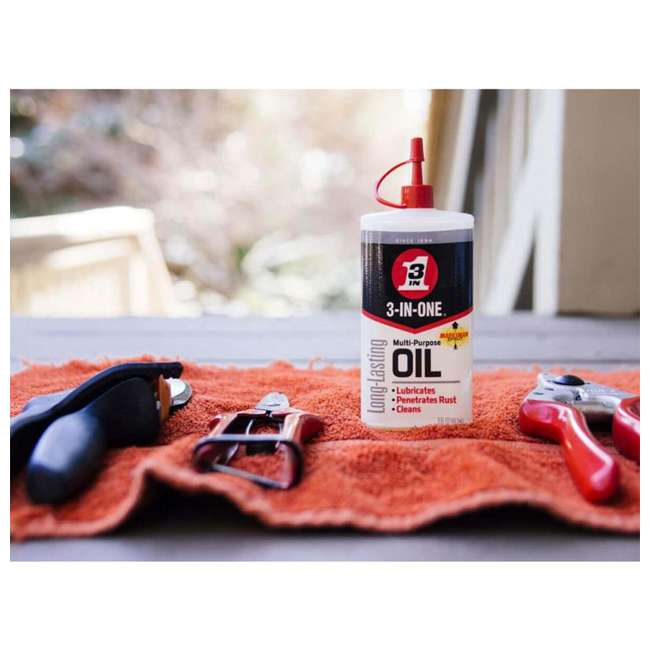 WD-10135 3 IN ONE 10135 Multi Purpose Lubricating Drip Oil for Moving Parts, 3 Ounces 1