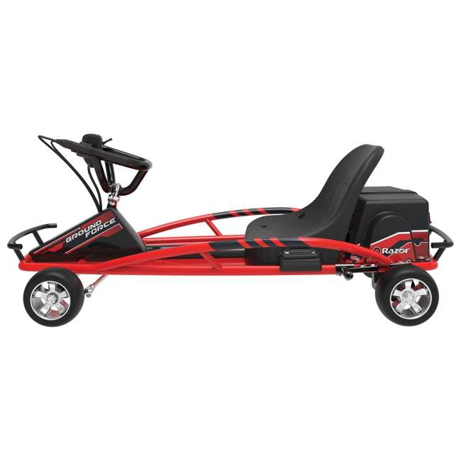 25141058-U-C Razor Ground Force 24V Electric Go Kart, up to 12 MPH, Red (For Parts) 1