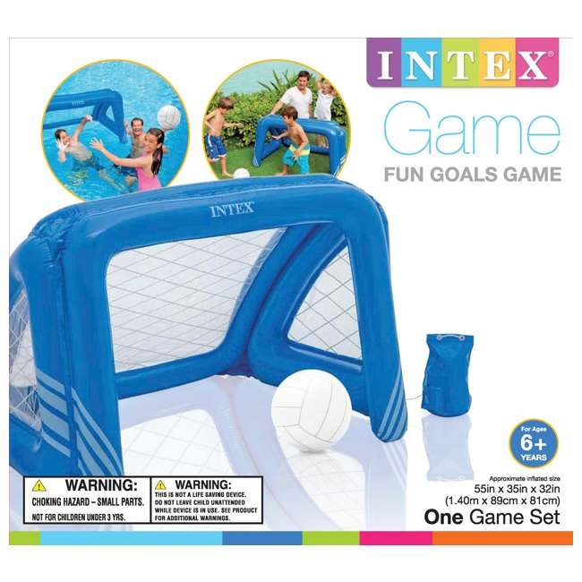 6 x 58507EP-U-A Intex Fun Goals Water Polo/Soccer Game Floating Pool Toy  |  (Open Box) (6 Pack) 3