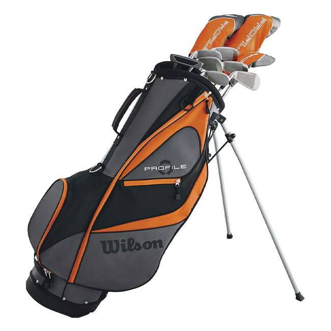 WGGC58300 + 2SKB-1649W Wilson Teen Right Handed Golf Set, Orange & Wheeled Travel Case 7