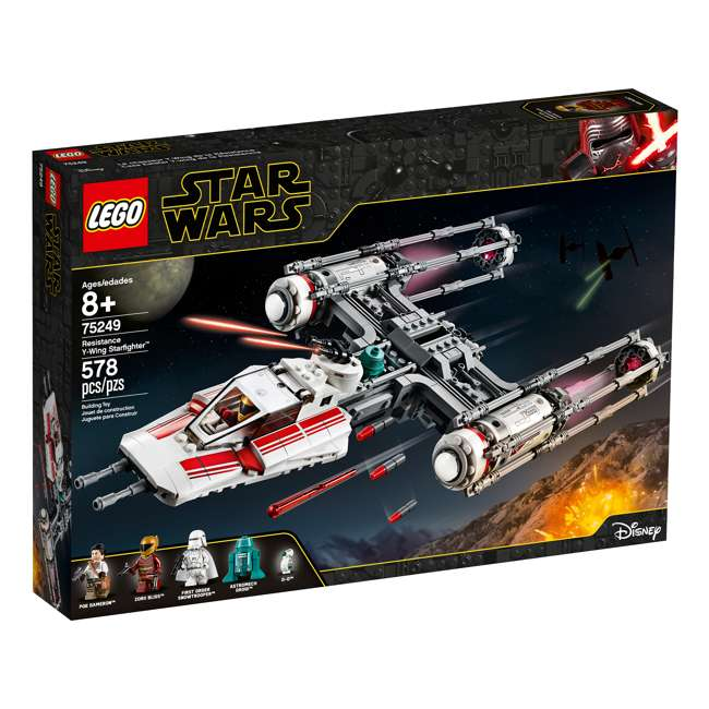 6251743 LEGO 75249 Resistance Y-Wing Starfighter Block Building Kit w/ 5 Minifigures 1